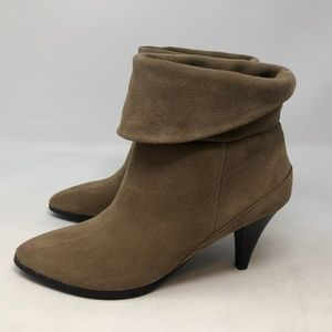 Sonoma Lana Taupe Brown Suede Leather Pull On boot